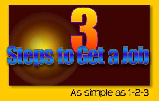 3 Steps to Get a Job, Career Coaching, Job Searching